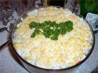 Готовим слоеный салат Нежный