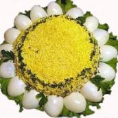 Рецепт салата Ромашка фото