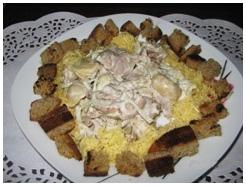 Салат с филе курицы