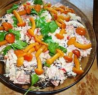 Вкусный рецепт салата с опятами фото