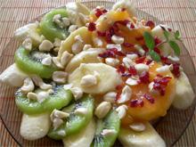 Салат с экзотическими фруктами