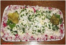 Картофельный салат с колбасой
