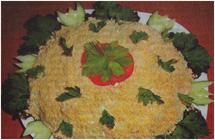 """Праздничный салат """"Фантазия"""" из куриного филе"""