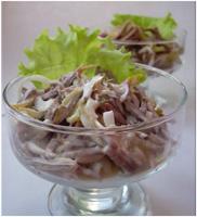 Фото салата с языком