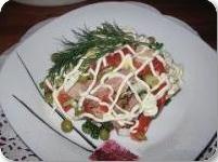 sПраздничный салат из копченой курицы
