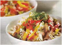Оригинальный салат из консервированных шампиньонов