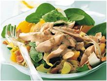 Пикантный салат из вареной курицы