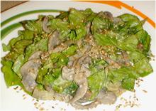 Салат с корнишонами и мясом говядины