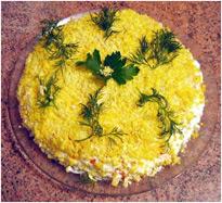 Рецепт салата из рыбных консерв