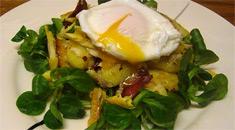 Теплый салат из пикши
