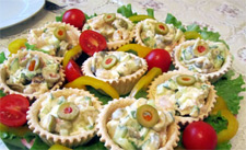 Салат с тарталетками