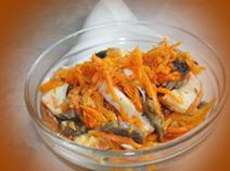 Салат с корейской морквой
