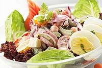 Рецепт вкусного салата с беконом