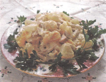 Вкусный салат с нежным кролячим мясом