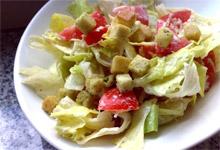 Легкий салатик с пармезаном