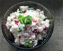 Рецепт мягкого на вкус салата с редиской