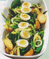 Салат со щавелем, картофелем и яйцами