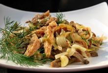 Рецепт салата с вешенками