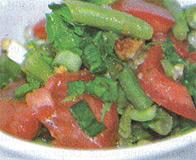 Вкусный салат со свежей фасолькой