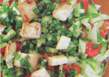 Свежий салат с минимумом калорий