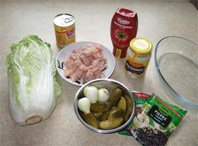 Куриный салат в приправе для гирос