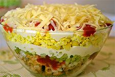 Слоенный салат на праздничный стол