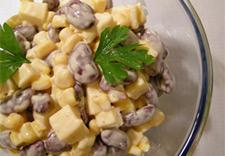 Фото рецепт салата с фасолью