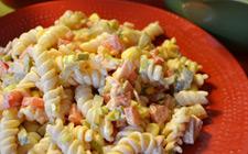 Рецепт салата с макаронами и ветчиной фото