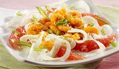 Свежий и ароматный салат на скорую руку