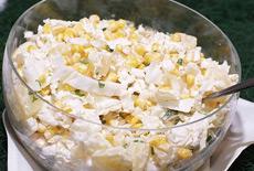 Рецепт салата с ананасами и кукурузой