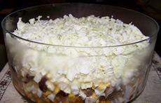 Рецепт сытного салата с мясом и грибами фото