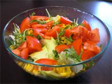 Рецепт  приготовления салата с руколой и помидорами фото