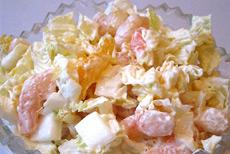 Рецепт салата с креветками и мандаринами фото