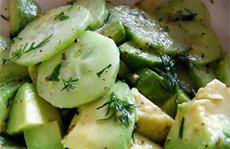 Рецепт салата с авокадо и огурцом фото