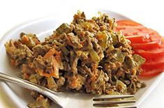 Рецепт салата из говяжьей печени