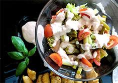 Закусочный микс из овощей и фасоли