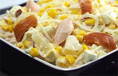 Рецепт салата с куриным окорочком фото