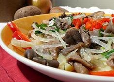Аппетитный салат из вешенок рецепт с фото