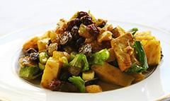 Салат с куриным филе и приправой карри фото