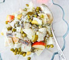 Картофельный салат с сельдью на праздничный стол
