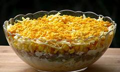 Рецепт салата с тунцом и кукурузой фото