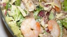 Фото салат с креветками и грибами