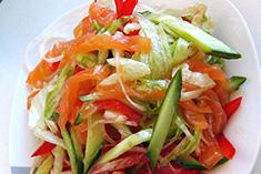 Салат со слабосоленным лососем