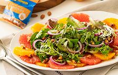 Салат с цитрусами и грейпфрутом