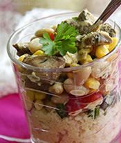 Закусочный салат с кус-кусом
