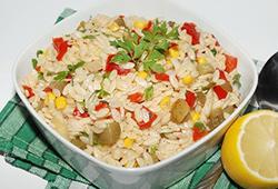 Салат с пастой Орзо фото