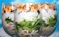Фото коктейлевый салат с курицей