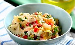 Фото салат-коктейль с креветками