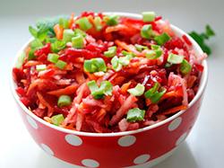 Рецепт салата со свеклой и морковью фото