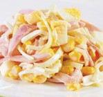 Салат с яйцами и ветчиной